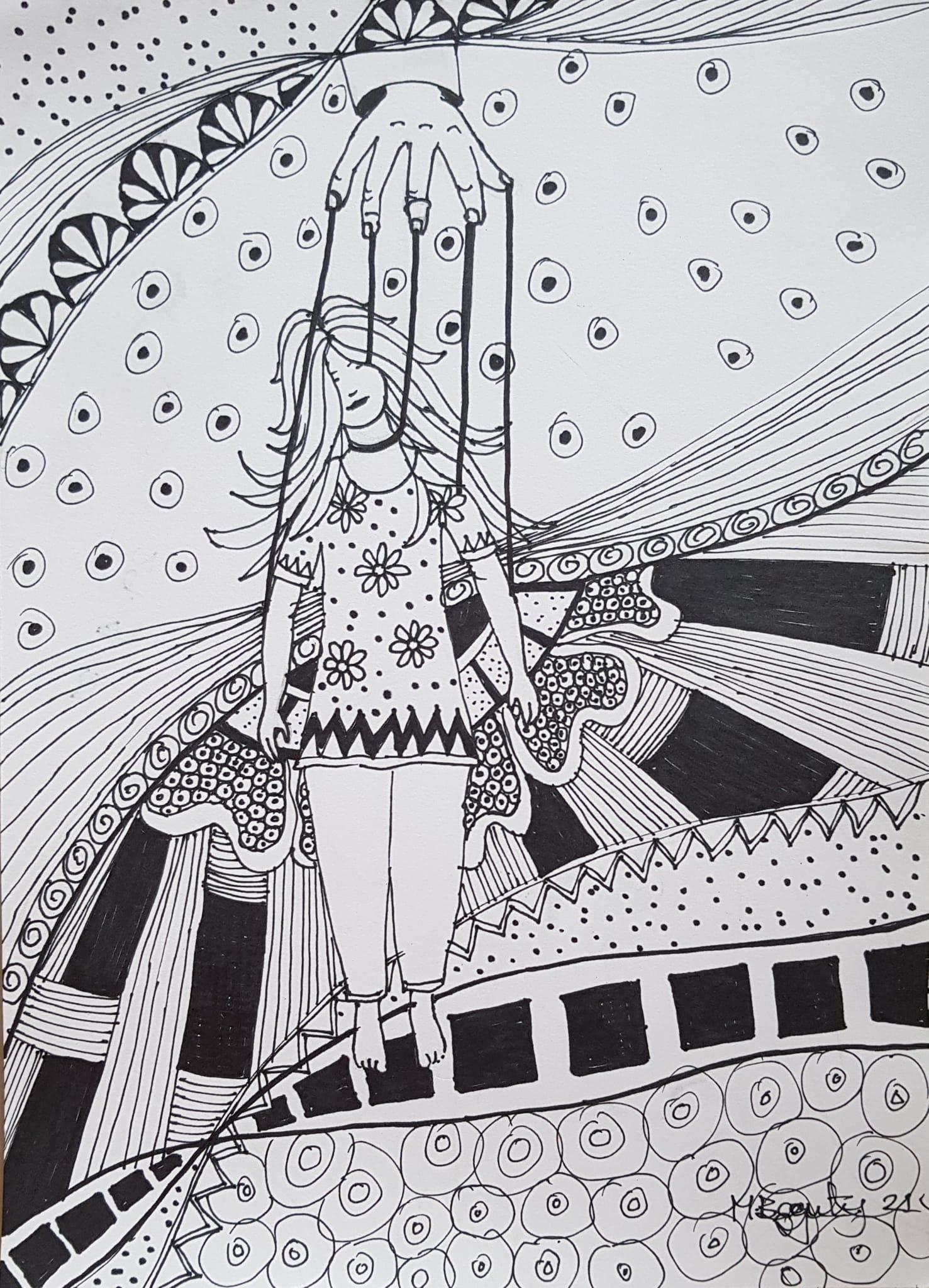 Mahfuza Begum- Art Expression about Munia's Suicide